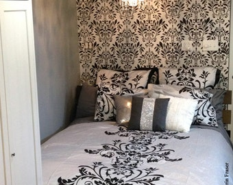 Leaf Damask Stencil - Large Wall Stencil
