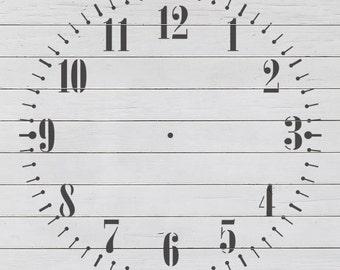 Fancy Clock 1 Stencil