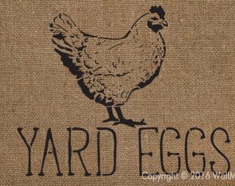 Yard Eggs Stencil