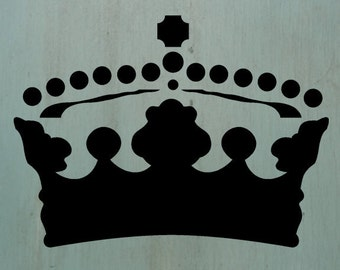 """Crown2 (7.36"""" x 10"""") A great little crown stencil. Perfect for craft projects and furniture pieces."""