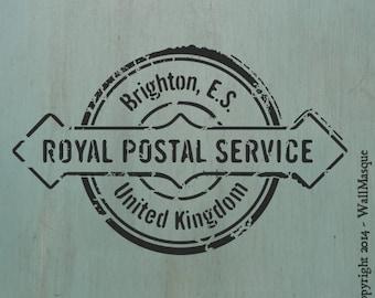 Royal Postal Service Stamp Stencil