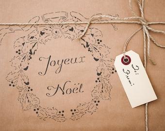 Joueux Noel Wreath Stencil