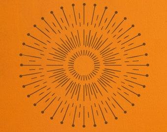 Sunray Stencil 3