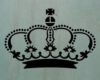 Crown1  - Vintage looking stencil