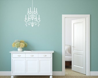 Chandelier stencil with extra repeating chain