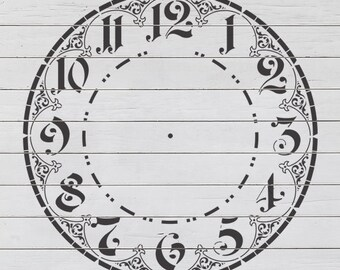 Ornate Clock 1 Stencil
