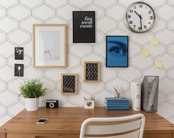 DotFrame Allover Contemporary Stencil - Large Wall Stencil