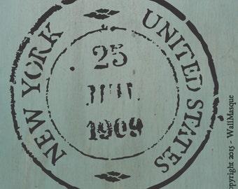 New York USA Stamp Stencil (8 inch version)