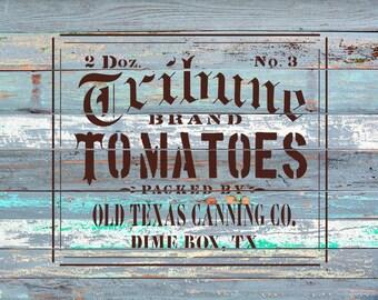 Tomatoes Stencil