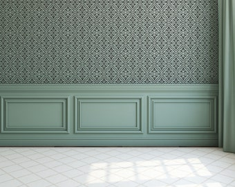 Victorian Tile Stencil - Large Wall Stencil - Allover Design