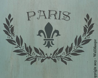 "Laurel Paris Stencil - 12.5"" x 7.5"""
