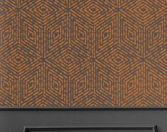 GeoBubbles Wall Stencil - Geometric Cubes