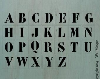 """3.5"""" Letter Stencil Set"""