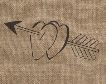 Hearts and Arrows Stencil