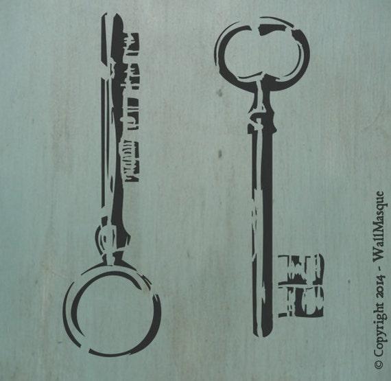 Old Keys Stencil