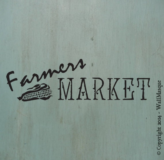 Farmers Market Sign Stencil
