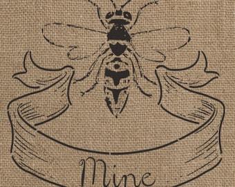 Bee Mine Stencil