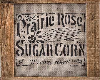 """Corn Label Stencil (VS-CornLabel) -10.8"""" x 8.26"""""""