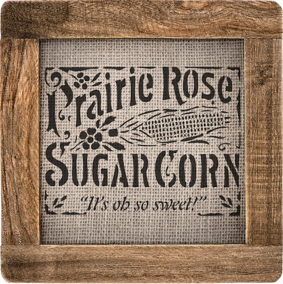 "Corn Label Stencil (VS-CornLabel) -10.8"" x 8.26"""