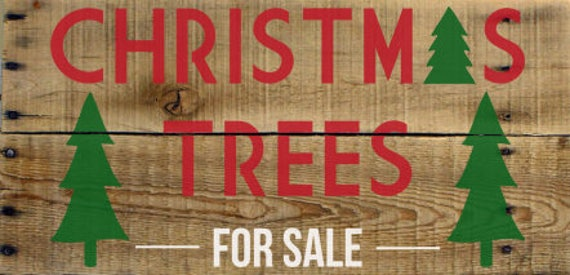 Farmhouse Christmas Trees For Sale Stencil - Stencil only sign not included.