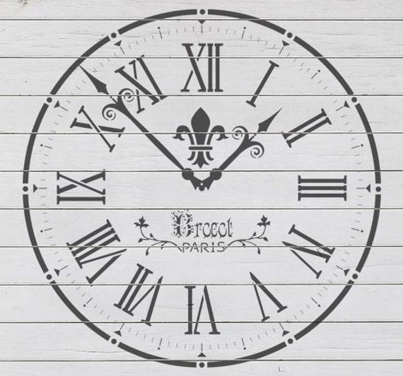Old Clock Stencil