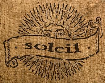 "French Sun Stencil (Soleil) - 13"" x 10.18"""