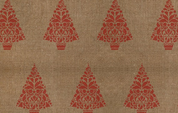 Holly Christmas Tree Stencil - Allover Pattern