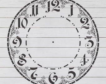 23 inch Ornate Clock 1 Stencil