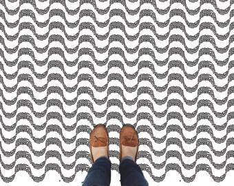 Mosaic Wave Tile Stencil