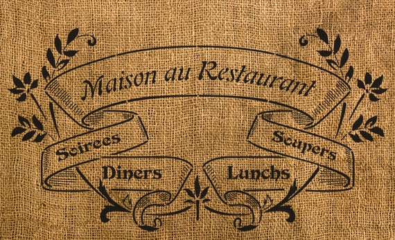 "Maison au Restaurant Stencil - 13"" x 6.95"""