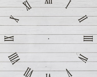 Vintage Clean Clock Stencil