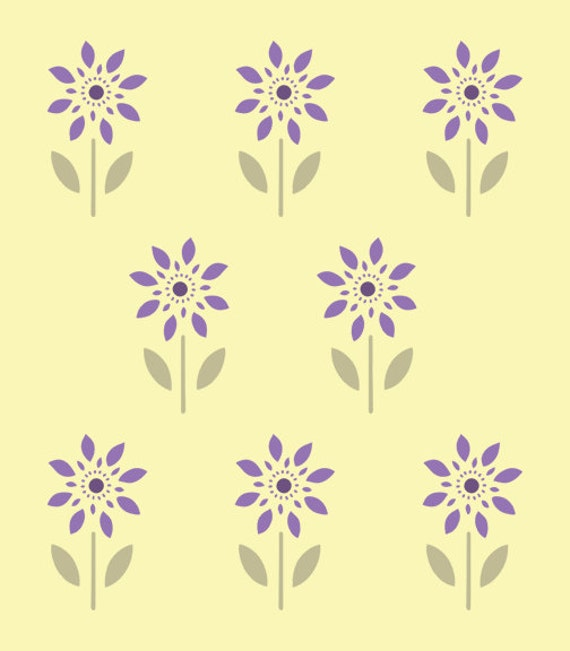 Farmhouse Floral Stencil 2