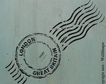 "London Stamp Stencil - 4.87"" x 12"""