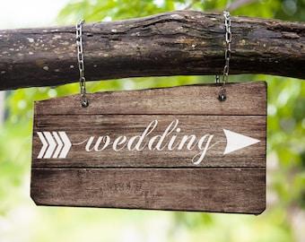 Sign Stencil Set :Wedding Arrow - Make your own wedding signs