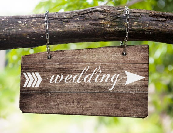 Sign Stencil Set :Wedding Arrow - Make your own wedding signs