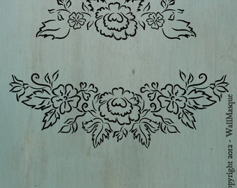 Floral Swag Stencil - 2 stencils in 1