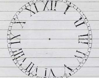 "Rustic Clock Stencil (23"" DIAMETER)"
