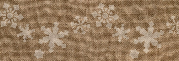 Snowflake Border Stencil - Awesome on Burlap Ribbon!