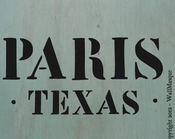 """Paris Texas Stencil -10""""x4.7"""""""