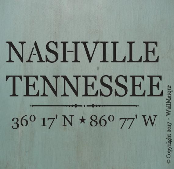 Nashville Coordinates Stencil