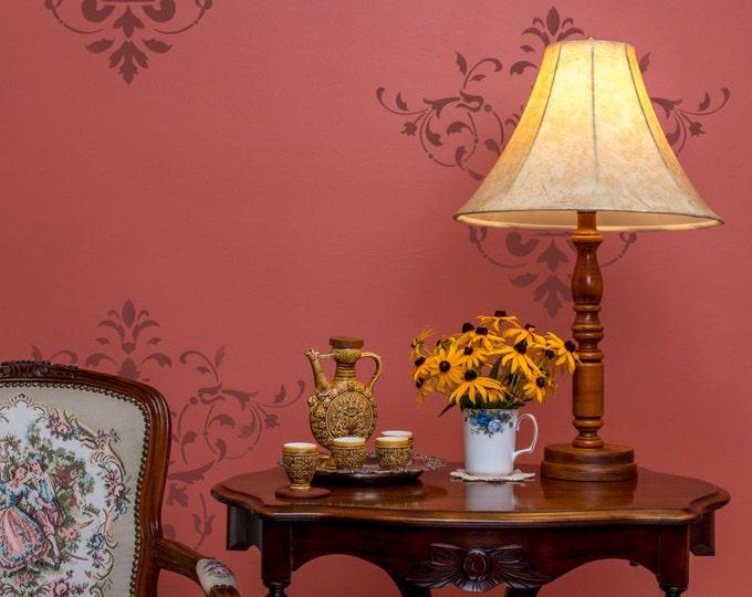 Featured listing image: Vintage Floral Damask Stencil