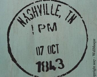 Nashville Postmark Stencil