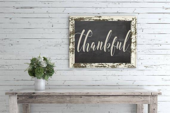 Thankful Stencil