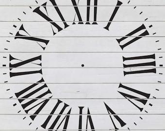 "Old Bold Clock Stencil (23"" DIAMETER)"