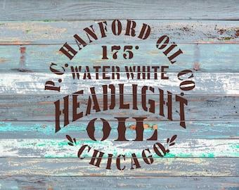 Headlight Oil Stencil