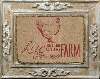 Life is better on the farm stencil