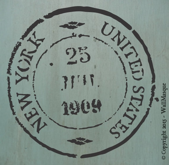 New York USA Stamp Stencil (8 inch version)