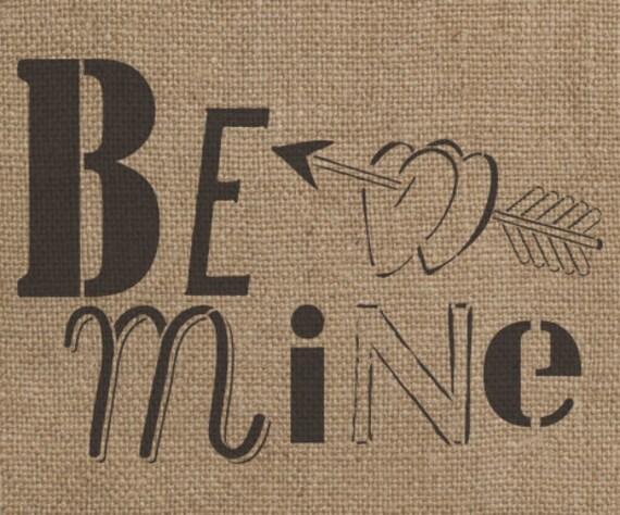 Be Mine Stencil