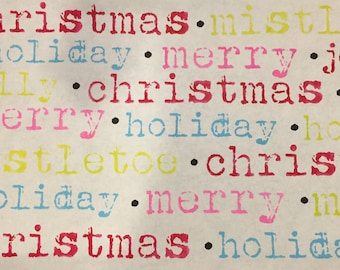 Christmas Words Stencil Set -Typwriter Style