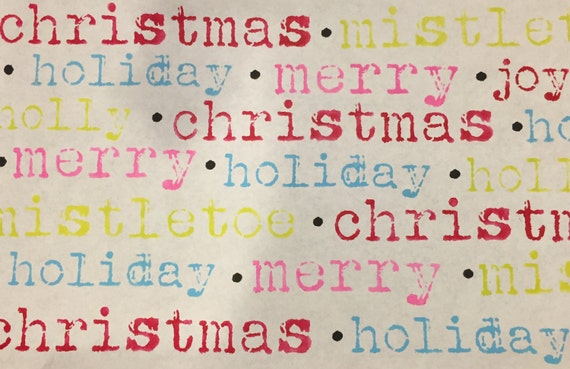 Christmas Words Stencil Set -Typwriter Style